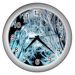 Fractal Forest Wall Clocks (silver)