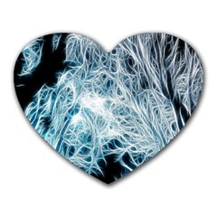 Fractal Forest Heart Mousepads by Simbadda