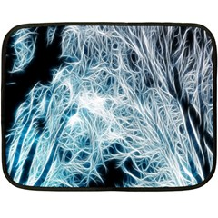 Fractal Forest Double Sided Fleece Blanket (mini)  by Simbadda