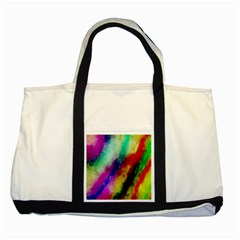 Abstract Colorful Paint Splats Two Tone Tote Bag by Simbadda