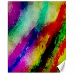 Abstract Colorful Paint Splats Canvas 16  X 20