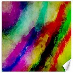 Abstract Colorful Paint Splats Canvas 20  X 20   by Simbadda