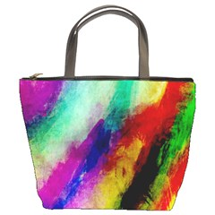 Abstract Colorful Paint Splats Bucket Bags