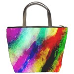 Abstract Colorful Paint Splats Bucket Bags Back