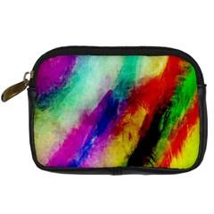 Abstract Colorful Paint Splats Digital Camera Cases by Simbadda