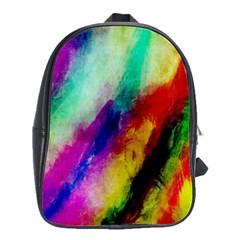 Abstract Colorful Paint Splats School Bags(large)  by Simbadda