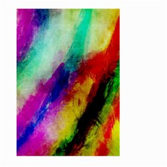 Abstract Colorful Paint Splats Large Garden Flag (two Sides) by Simbadda