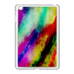 Abstract Colorful Paint Splats Apple Ipad Mini Case (white) by Simbadda