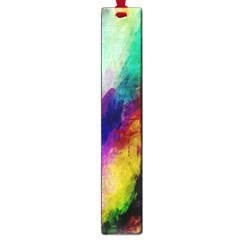 Abstract Colorful Paint Splats Large Book Marks by Simbadda