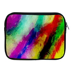 Abstract Colorful Paint Splats Apple Ipad 2/3/4 Zipper Cases by Simbadda