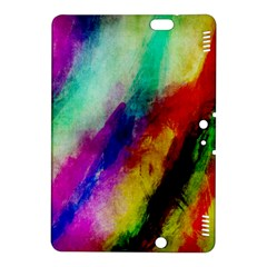 Abstract Colorful Paint Splats Kindle Fire Hdx 8 9  Hardshell Case by Simbadda