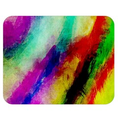 Abstract Colorful Paint Splats Double Sided Flano Blanket (medium)  by Simbadda