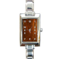 Fractal Color Lines Rectangle Italian Charm Watch by Simbadda