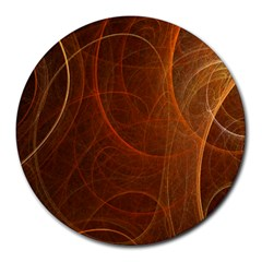 Fractal Color Lines Round Mousepads by Simbadda