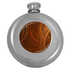 Fractal Color Lines Round Hip Flask (5 Oz) by Simbadda