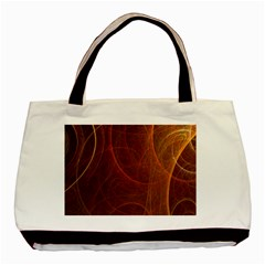 Fractal Color Lines Basic Tote Bag (two Sides) by Simbadda