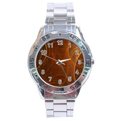 Fractal Color Lines Stainless Steel Analogue Watch by Simbadda