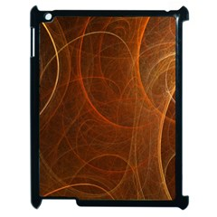 Fractal Color Lines Apple Ipad 2 Case (black) by Simbadda
