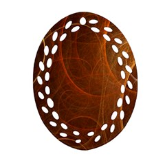 Fractal Color Lines Oval Filigree Ornament (two Sides) by Simbadda