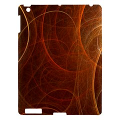 Fractal Color Lines Apple Ipad 3/4 Hardshell Case by Simbadda