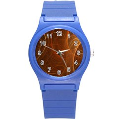 Fractal Color Lines Round Plastic Sport Watch (s) by Simbadda