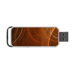 Fractal Color Lines Portable Usb Flash (one Side) by Simbadda