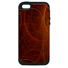 Fractal Color Lines Apple Iphone 5 Hardshell Case (pc+silicone) by Simbadda