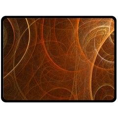 Fractal Color Lines Double Sided Fleece Blanket (large)  by Simbadda