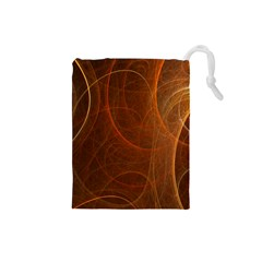 Fractal Color Lines Drawstring Pouches (small)  by Simbadda