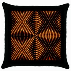 Fractal Patterns Throw Pillow Case (black) by Simbadda