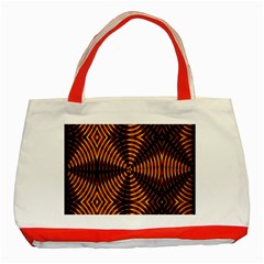Fractal Patterns Classic Tote Bag (red) by Simbadda
