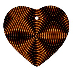 Fractal Patterns Heart Ornament (two Sides) by Simbadda