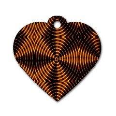 Fractal Patterns Dog Tag Heart (two Sides) by Simbadda
