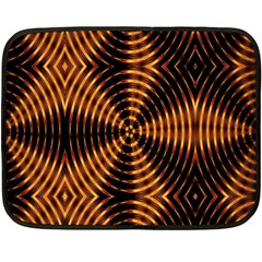 Fractal Patterns Double Sided Fleece Blanket (mini)  by Simbadda