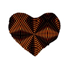 Fractal Patterns Standard 16  Premium Heart Shape Cushions by Simbadda