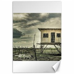 Traditional Cane House At Guayas District Ecuador Canvas 12  X 18   by dflcprints