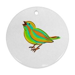 Bird Ornament (round) by Valentinaart