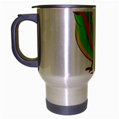 Bird Travel Mug (silver Gray) by Valentinaart