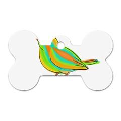 Bird Dog Tag Bone (one Side) by Valentinaart