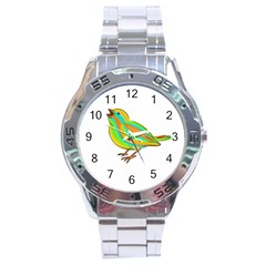 Bird Stainless Steel Analogue Watch by Valentinaart