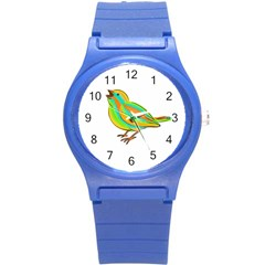 Bird Round Plastic Sport Watch (s) by Valentinaart