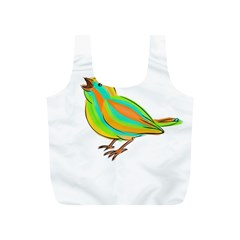 Bird Full Print Recycle Bags (s)  by Valentinaart