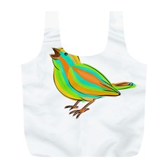 Bird Full Print Recycle Bags (l)  by Valentinaart