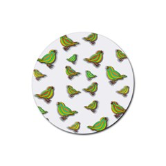 Birds Rubber Round Coaster (4 Pack)  by Valentinaart