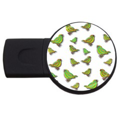 Birds Usb Flash Drive Round (2 Gb) by Valentinaart