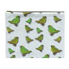 Birds Cosmetic Bag (xl) by Valentinaart
