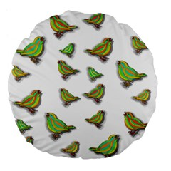 Birds Large 18  Premium Flano Round Cushions by Valentinaart