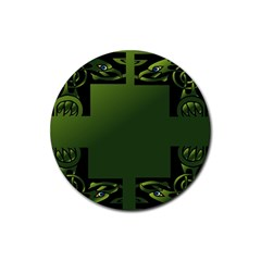 Celtic Corners Rubber Round Coaster (4 Pack)  by Simbadda