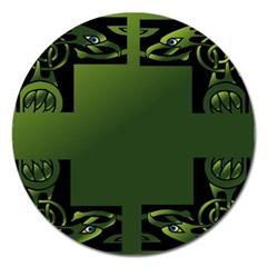 Celtic Corners Magnet 5  (round) by Simbadda