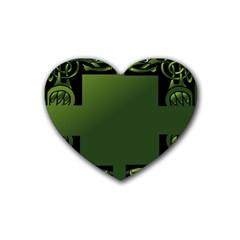 Celtic Corners Rubber Coaster (heart)  by Simbadda